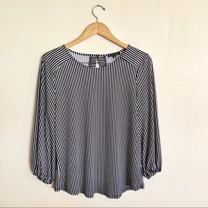 Adrianna Papell long Sleeve Stripe Top